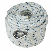 Extreme Max Db Nylon Anchor Line 3/4 600and039 White/blue Tracer 3006.2547