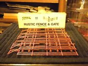 Brand New Nos Atlas Ho Scale 777 Rustic Fence And Gate In Box Made In U.s.a.