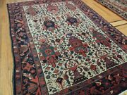 4x6 Semi-antique Malayer Oriental Area Rug Wool Red Navy Green