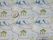 Teddyand039s Great Adventures Pirate Map In The Beginning Cotton Fabric 1/2yd