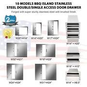 Bbq Multi-size Double Single Doors Drawer Outdoor Kitchen Stainless Steel Access