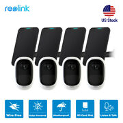4pcs Reolink Outdoor Battery-powered Security Camera Argus Pro With Solar Panel