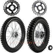 70/100-19 And 90/100-16 Front Rear Wheel Rim Tire For Dirt Pit Bike Crf100 Klx140l