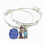 Alex And Ani Disney Parks Toy Story 4 Woody And Bo Toys At Play - Set Of 2 Ba...