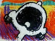 Tom Everhart Lucyand039s Scream Peanuts Hand Signed Lithograph Rare