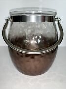 Yankee Candle Ombre Sheridan Jar Candle Holder 7.25andrdquo X 6andrdquo New W/ Defect See Pic