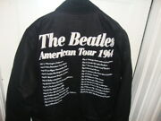 The Beatles American Tour 64 Jacket 50 Years Black Varsity Jacket Lg Collect