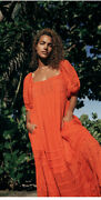 New W/tag 128 Free People Endless Summer Letand039s Be Friends Midi Dress Rome Red L