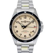 Bell And Ross Vintage Brv292-bei-st/sst Beige Dial Menand039s Watch Genuine Freesandh