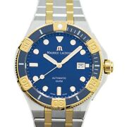 Maurice Lacroix Aikon Ai6058-sy013-430-1 Blue Dial Menand039s Watch Genuine