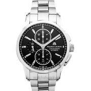 Maurice Lacroix Pontos Pt6388-ss002-330-1 Black Sun Brushed Dial Menand039s Watch