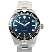 Oris Divers 01 733 7707 4055-07 8 20 18 Blue Dial Menand039s Watch Genuine