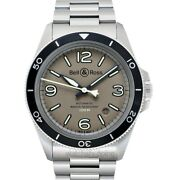 Bell And Ross Vintage Brv292-mka-st/sst Green Dial Menand039s Watch Genuine Freesandh