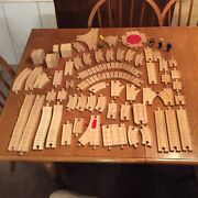 78pc Thomas The Train Wooden Clickety Clack Bumpy Switch Track Signs People ++