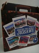 7 In 1 Around The World Jigsaw Puzzles By American Collection Set Of 7 +gift Box