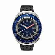 Squale 2002.ss.bl.bl.nt 1000 Meter Swiss Automatic Dive Wristwatch Leather