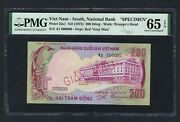 South Vietnam 200 Dong Nd1972 P32s1 Specimen Uncirculated