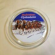1995 Budweiser Clydesdale 13 Glassware Platter Tray W/box Indiana Glass Company