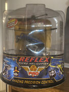 Air Hogs Reflex R/c Blue Micro Helicopter New Nos 2006 W Batteries Charger Plane
