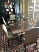 1990s Baker Furniture French Provincial Mahogany Dining Room Table And 8 Chair S