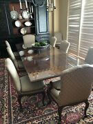 Baker Furniture French Provincial Mahogany Dining Room Table And 8 Chairs