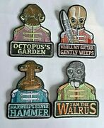 Star Wars, Beatles Sgt. Pepper's Parody 4 Pc Set Of Embroidered Patches