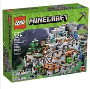 Lego Minecraft The Mountain Cave 21137 Building Kit 2863 Piece Retired New