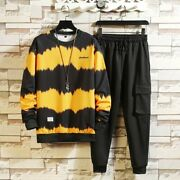 Patchwork Menand039s Sportswear Sets 2020 Autumn Spring Hoodies Casual Tracksuit