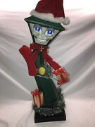 Vintage Telco Frank E Post Dancing Singing Animated Lamppost In Box Ships Assp