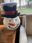 Snowman Christmas Tree Topper Top Hat Large 16andrdquo Holiday Decor Cracker Barrel