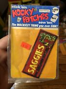 1973 Kooky Patches Saggies In Unopened Pack A Wacky Packages Spin Off