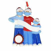 Pandemic Survival Family Of 3 Personalized Christmas Ornament Quarantine