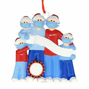 Pandemic Survival Family Of 5 Personalized Christmas Ornament Quarantine