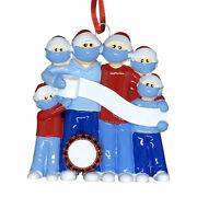 Pandemic Survival Family Of 6 Personalized Christmas Ornament Quarantine