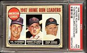 1968 Topps 6 Carl Yastrzemski Harmon Killebrew Psa 7 Nm Hof 1967 Al Hr Leaders