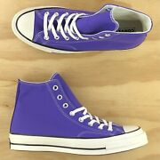Converse Chuck Taylor 70 High Top Purple White Nightshade Sneakers 168035c Size