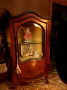 Antique French Louis Xv Salesman Sample Display Cabinet Bombe