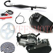 49cc 2 Stroke Engine Motor +throttle Cable+tank+muffler+chain+switch Scooter Atv