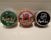 Spot It Nhl Sports And On The Road Editions Matching Card Games