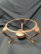 Jos. Heinrichs Solid Copper Chafing Burner And Stand Excellent Condition