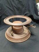 Jos. Heinrichs Solid Copper Chafing Burner And Stand Nice, Original Patina