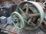 Large Ihc Clutch Pulley Titan,famous,mogel Gas Engine Old Motor Part