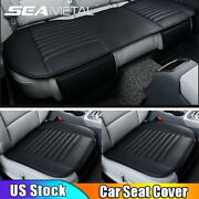 Us Car Front Rear Seat Cover Set Breathable Pu Leather Chair Cushion Universal