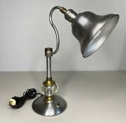 Vintage Leviton Industries Brass Industrial Table Lamps. Tested And Working