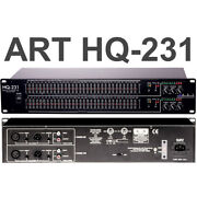 Art Pro Audio Hq231 Dual Channel 31-band Graphic Equalizer Eq Feedback Detection