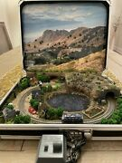 Z-scale Briefcase Scenic Train Layout With Rokuhan Locomotive And Controller