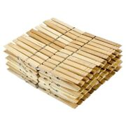 20x100 Pieces Of Wooden Clothespins With Sps Heavy-duty Coils Non-slip