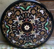 42 Inches Round Marble Hotel Table Top Handmade Unique Pattern Dining Table Top