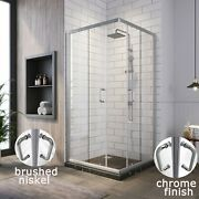 Sunny Shower Corner Sliding Shower Door Enclosure 36 X 36 X 72 With Clear Glass