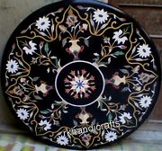 Unique Pattern Inlaid Marble Reception Table Top Round Dining Table 42 Inches